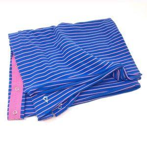 Ivivva chill multi way scarf blue hot pink stripe